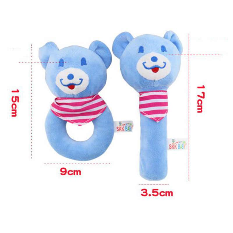 Лидер продаж, детское плюшевое Галтовочное кольцо с мультяшным кроликом и медведем, Колокольчик для новорожденных, игрушки для рук, мягкая Мобильная детская кроватка, куклы, лучший подарок