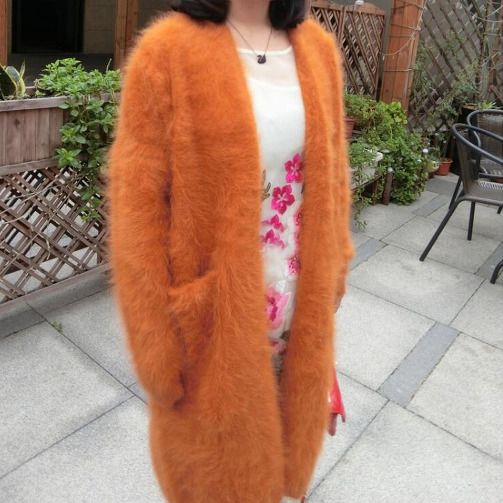 Free Shipping 100 Genuine Soft Handfeel Mink Cashmere Sweater Female Cardigans Good quality Factory Customize Plus