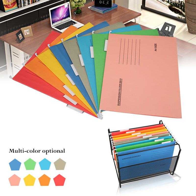 Hanging File Folders Paper Document Clip File A4 Binding Folder Ultra Thin Adjustable Display Files Office School Supplies