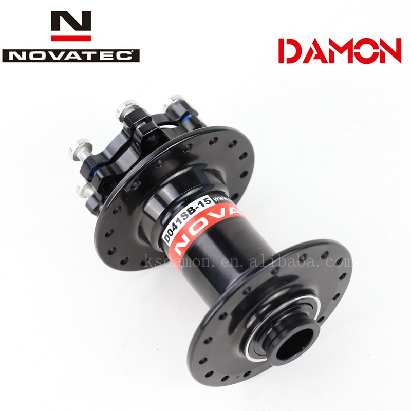 Novatec D041SB DH AM Mtb Disc Brake 32 36 Hole Bicycle Front Hub 15mm Mountain Bike Hubs Thru Axle 100mm 110mm 2 Bearings(China)