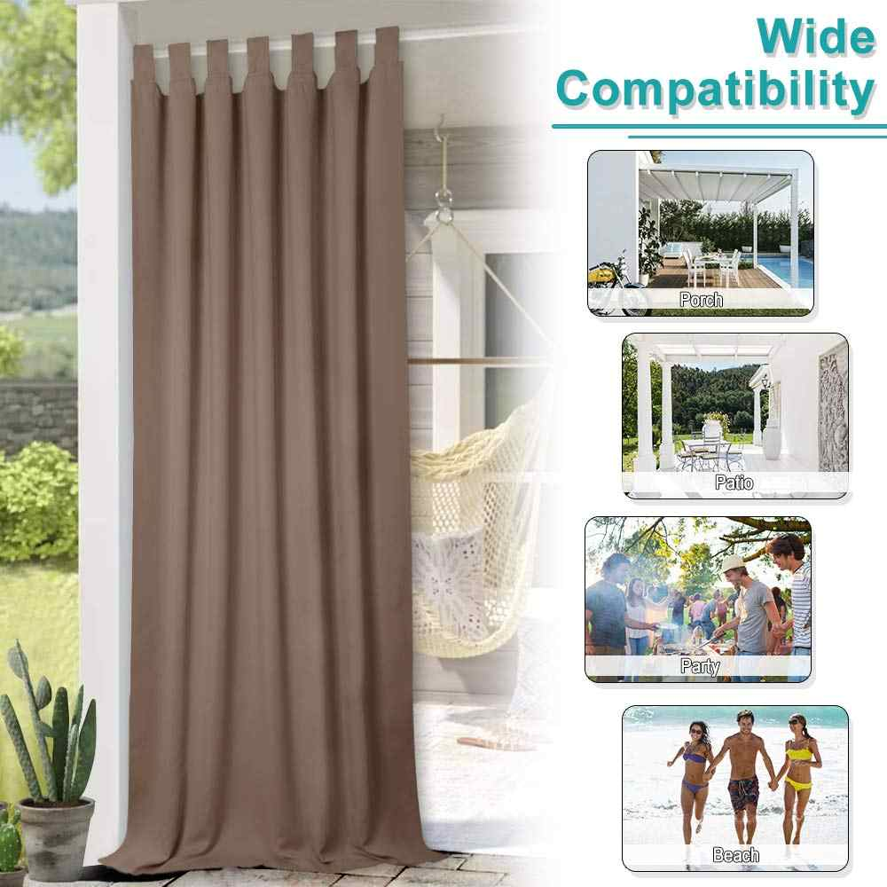 Marvelous Nicetown Outdoor Waterproof Curtain Tab Top Thermal Insulated Blackout Curtain Drape For Patio Garden Front Porch Gazebo Interior Design Ideas Helimdqseriescom
