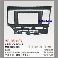Liislee 2 DIN Plastic Frame Radio Fascia For Mitsubishi Fortis Lancer 2010 Auto Stereo Interface Dash CD Trim Installation Kits