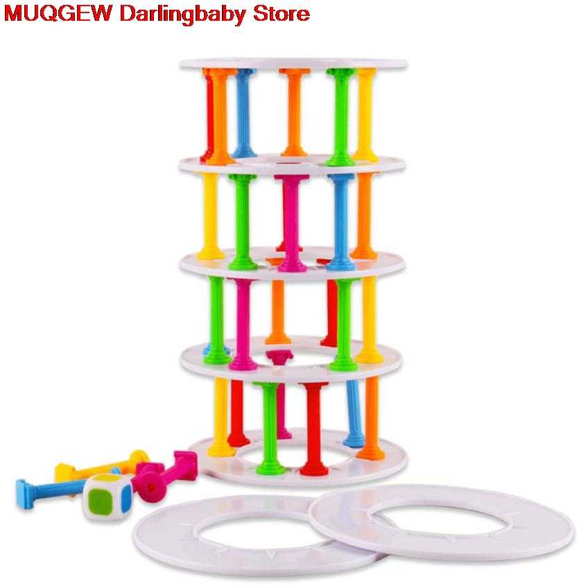 Wobbly Tower Collapse Game Stacking Column Board Games Challenge Fun Funny Gadgets Novelty Interesting Toys For Children Gift