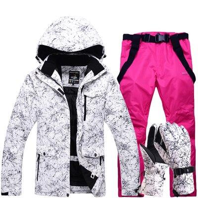 Free Shipping Men And Women Waterproof Ski Suit Mountain Ski Suit For Men Thicken Warm Ski Snow Jacket+Snowboard Female Ski Set