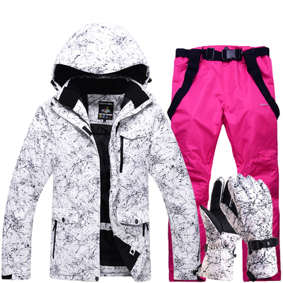 Livraison gratuite hommes et femmes combinaison de Ski imperméable combinaison de Ski de montagne pour hommes épaissir veste de neige de Ski chaud + Snowboard ensemble de Ski femme