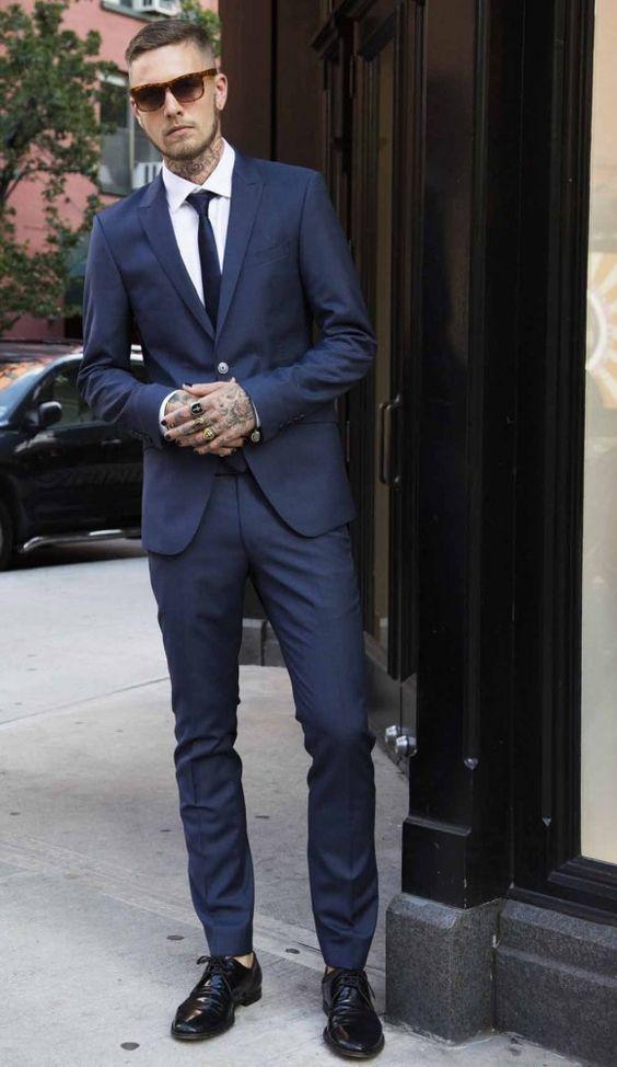 Aliexpress.com  Buy 2017 Latest Coat Pant Designs Navy Blue Formal Men Suit Skinny Simple ...