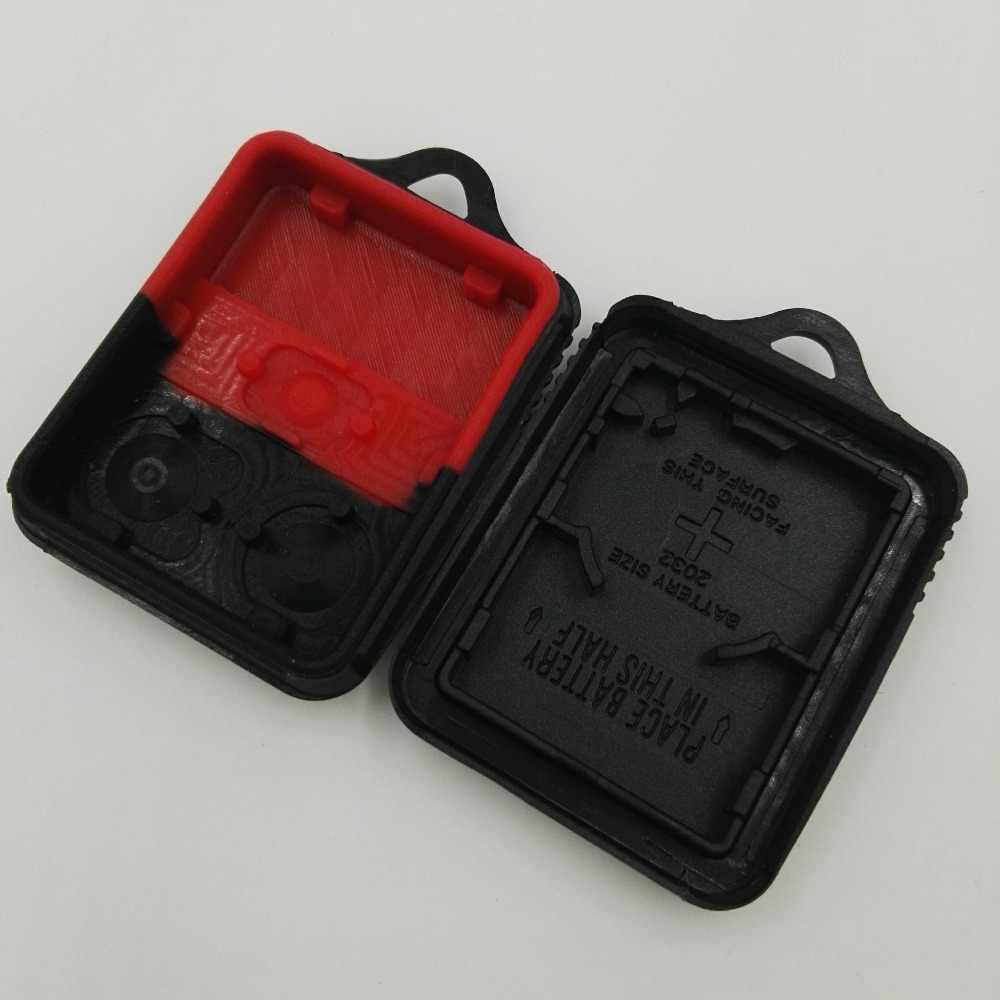 3 boutons bouton rouge avec Pad sans clé télécommande clé housse coque gousset pour Ford Explorer Mercury Mazda pas de puces à l'intérieur