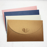 203 130mm Big Size Vintage Love Buckle Pearl Paper Blank Envelopes Multicolor Business Specialty Simple Design