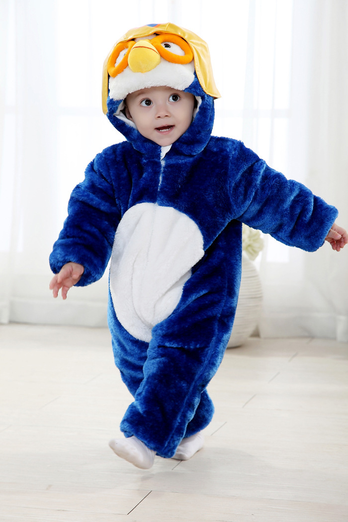 Baby Animal Costume Penguins Long Sleeve Romper Soft Newborn Baby Boy Rompers Penguin Costume Hoodie Overalls-in Rompers from Mother u0026 Kids on ...  sc 1 st  AliExpress.com & Baby Animal Costume Penguins Long Sleeve Romper Soft Newborn Baby ...