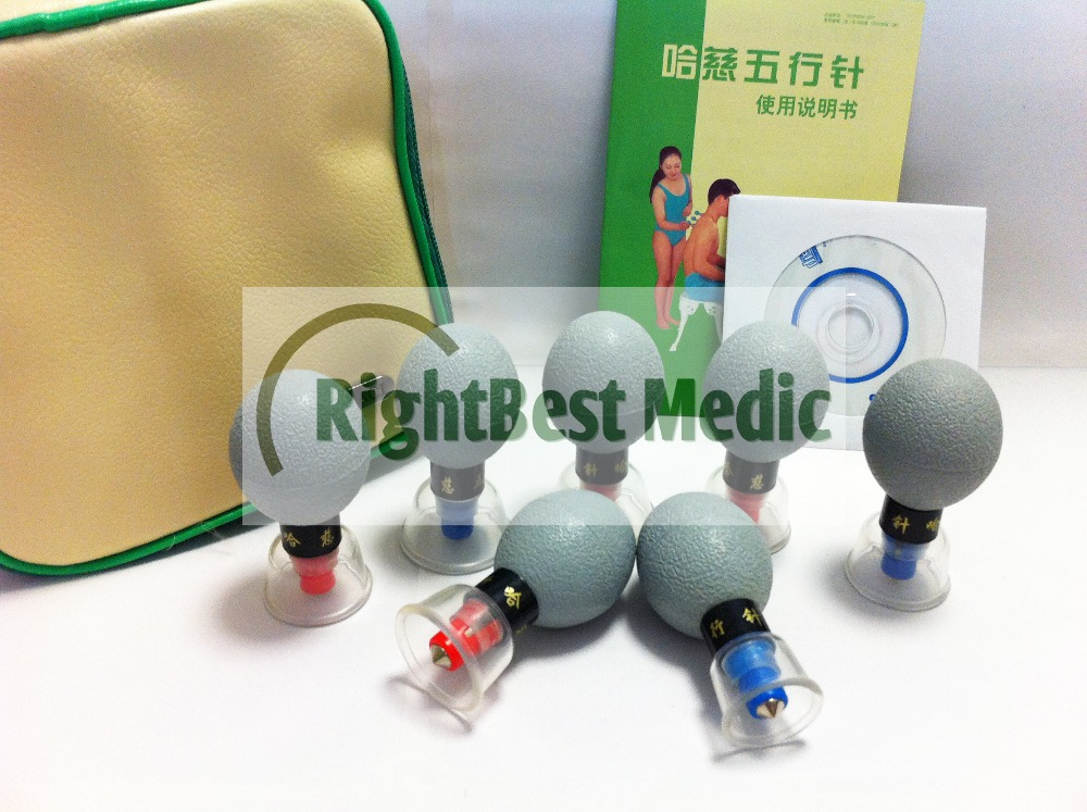Exclusive Factory 2 Sets/Lot Promotion HACI Magnetic Suction Cupping Set - 18 Cups,HACI Wu Xing Zhen (Classic 18 Cups)
