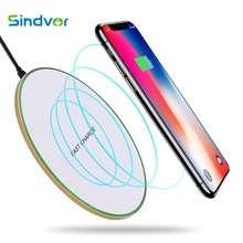 Sindvor 10W Qi kablosuz şarj için iPhone kablosuz şarj telefonu için Samsung Xiaomi indüksiyon şarj kablosuz şarj pedi