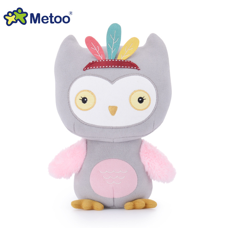 7.5 Inch Sweet Cute Owl Kawaii Plush Stuffed Animal Cartoon Kids Toys for Girls Children Baby Birthday Christmas Gift Metoo Doll 6pcs plants vs zombies plush toys 30cm plush game toy for children birthday gift