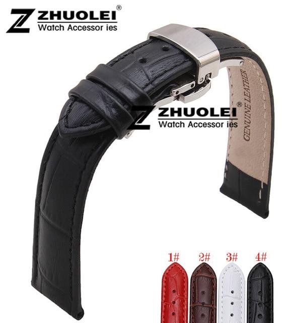 20 мм новый полированный черный нержавеющей бабочка застежка черный натуральной кожи ремешок для samsung передач S2 браслет