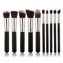 10 unids Pro Makeup Brushes Eye Shadow Kit Cosmetic Foundation Brush Blush Fashion Tool Kit High Quality