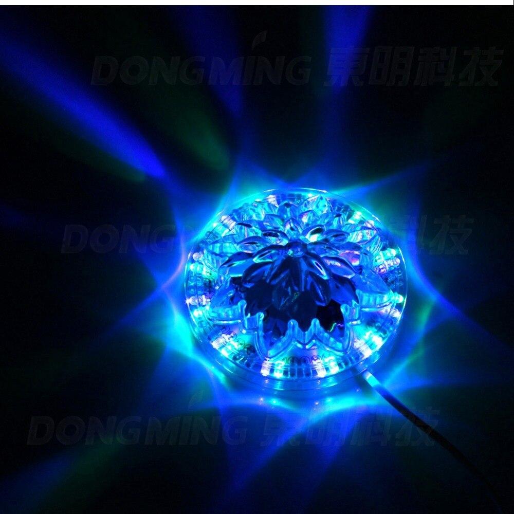 8 Вт Мини Подсолнечника Красочные RGB LED этап Освещение эффект 110 В 220 В Авто вращающийся лазер настенный светильник 48 светодиоды дома DJ