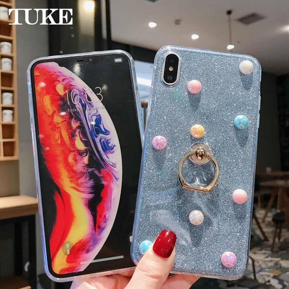 TUKE Mobile Phone Case For Sony Xperia Z4 Z3 Z1 Z5 Z2 C6 Cover Case Glitter Powder Rings Soft TPU