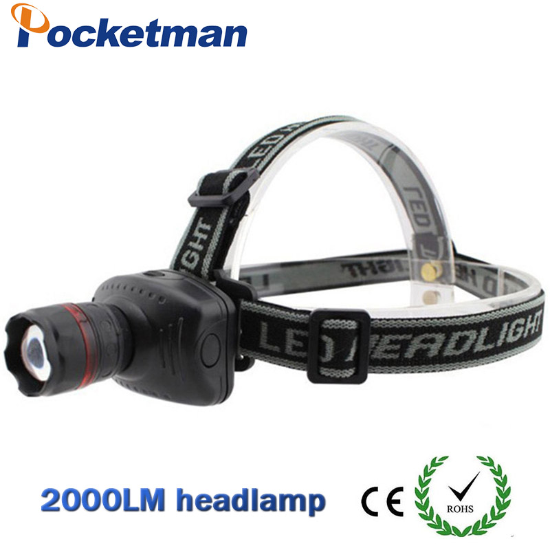 2000lm Hot Selling Headlamp Led Headlight Good Quality Mini Headlight Head Lamp Led Headlamp Led Torch LED Flashlights