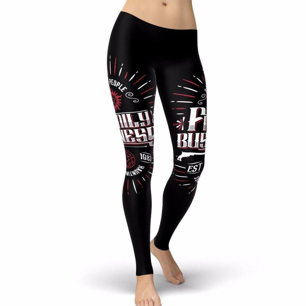 2018 Supernatural Women Leggings SAVING PEOPLE Leggins Printed Legging For Woman Work Out Fitness