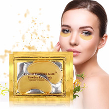 10pcs Beauty Gold Crystal Collagen Eye Mask Patches Moisture Eye Mask, Anti-Ageing Face Care Skin