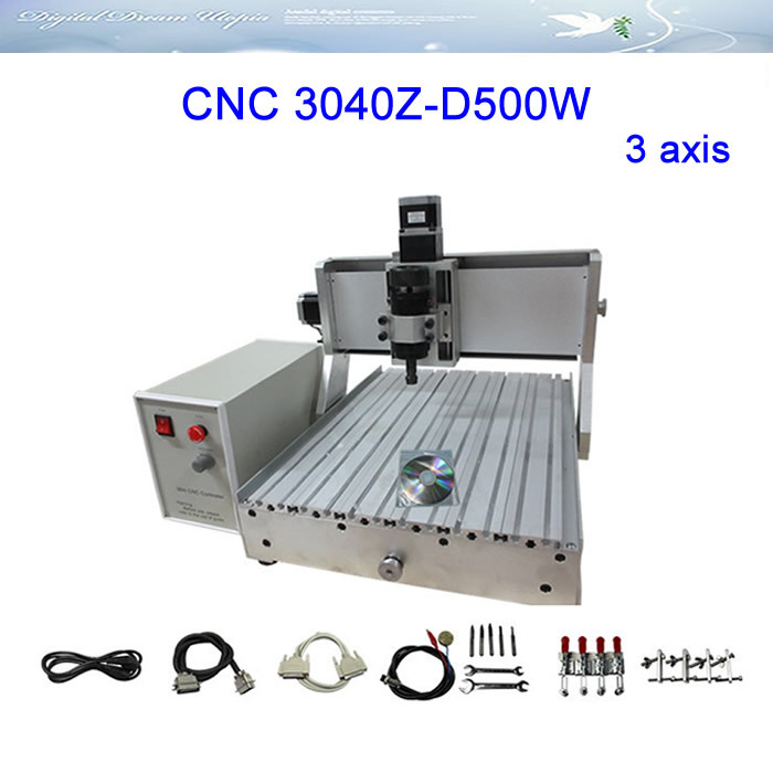 Russia free tax 3 axis CNC Router LY 3040Z-D500W Engraving Machine cnc milling machine russia tax free cnc woodworking carving machine 4 axis cnc router 3040 z s with limit switch 1500w spindle for aluminum