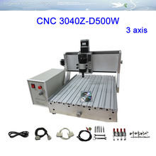 Russia free tax 3 axis CNC Router LY 3040Z-D500W Engraving Machine cnc milling machine