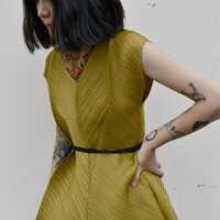 Designer wrinkle plissado MIYAKE regatas frete grátis