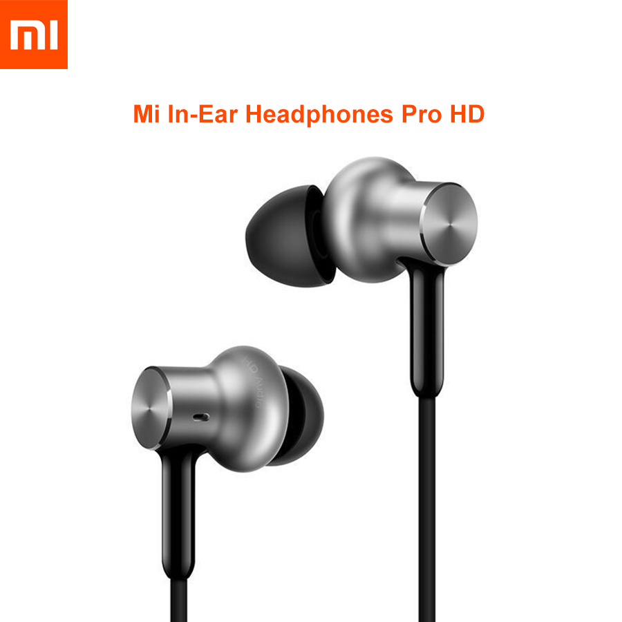 Original Xiaomi Mi Hybrid Pro HD In-ear Earphones Volume Headset  Control Dynamic Balanced for phones Earphone With Microphone s6 3 5mm in ear earphones headset with mic volume control remote control for samsung galaxy s5 s4 s7 s6 note 5 4 3 xiaomi 2