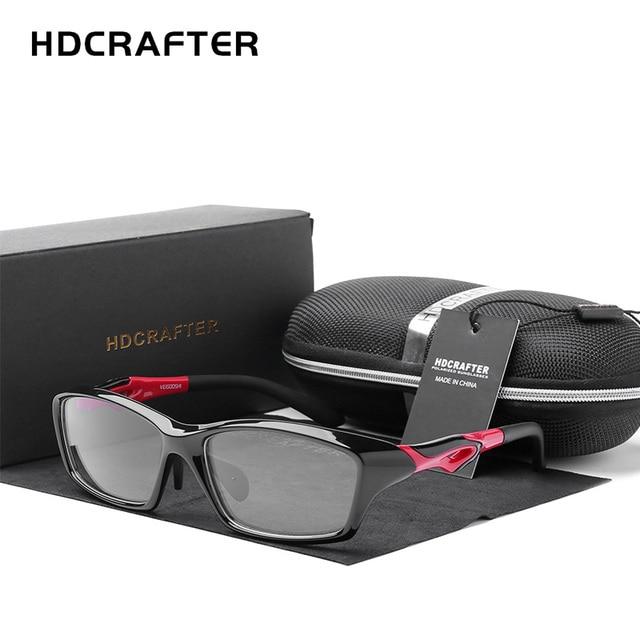 HDCRAFTER Erkek Sürüş Sürme spor gözlükler Çerçeveleri TR90 Reçete Miyopi Hipermetrop Optik Gözlük Gözlük Gözlük
