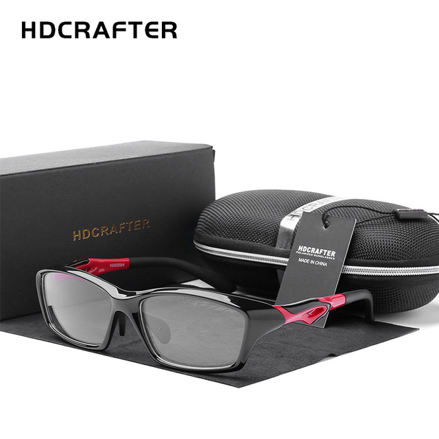 HDCRAFTER Mens Driving Riding Sports Glasses Frames TR90 Prescription Myopia Hyperopia Optical Eyeglasses Frames Spectacle