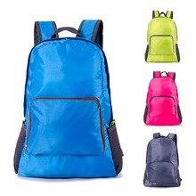 New Foldable  Korean Folding Backpack outdoor Hiking Bag Waterproof Travel Nylon Light weight Clim