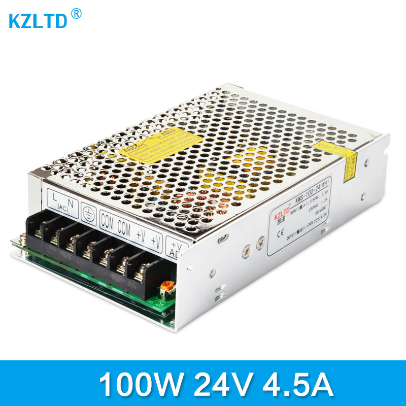LED Switching Power Supply 24V 4.5A 100W AC-DC Switching Power Adapter 220V 110V to 24V Transformer for LED Display Monitor meanwell 24v 100w ul certificated nes series switching power supply 85 264v ac to 24v dc