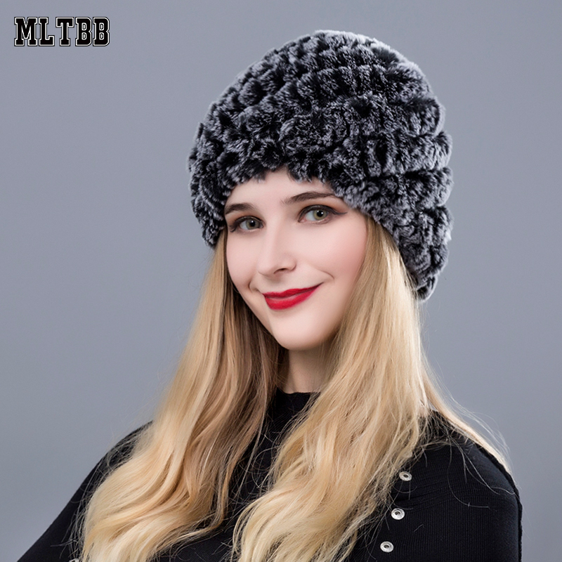 483a3a29f89de MLTBB 2019 Winter Hat Women Slouchy Hat Female Knitted Hats Cuffed Plain  Warm Cap For Women Thickening Warm Caps