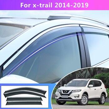 4pcs Car Styling For Nissan X-Trail T32 Smoke Window Sun Rain Visor Deflector Guard  2014 2015 2016 2017 2018