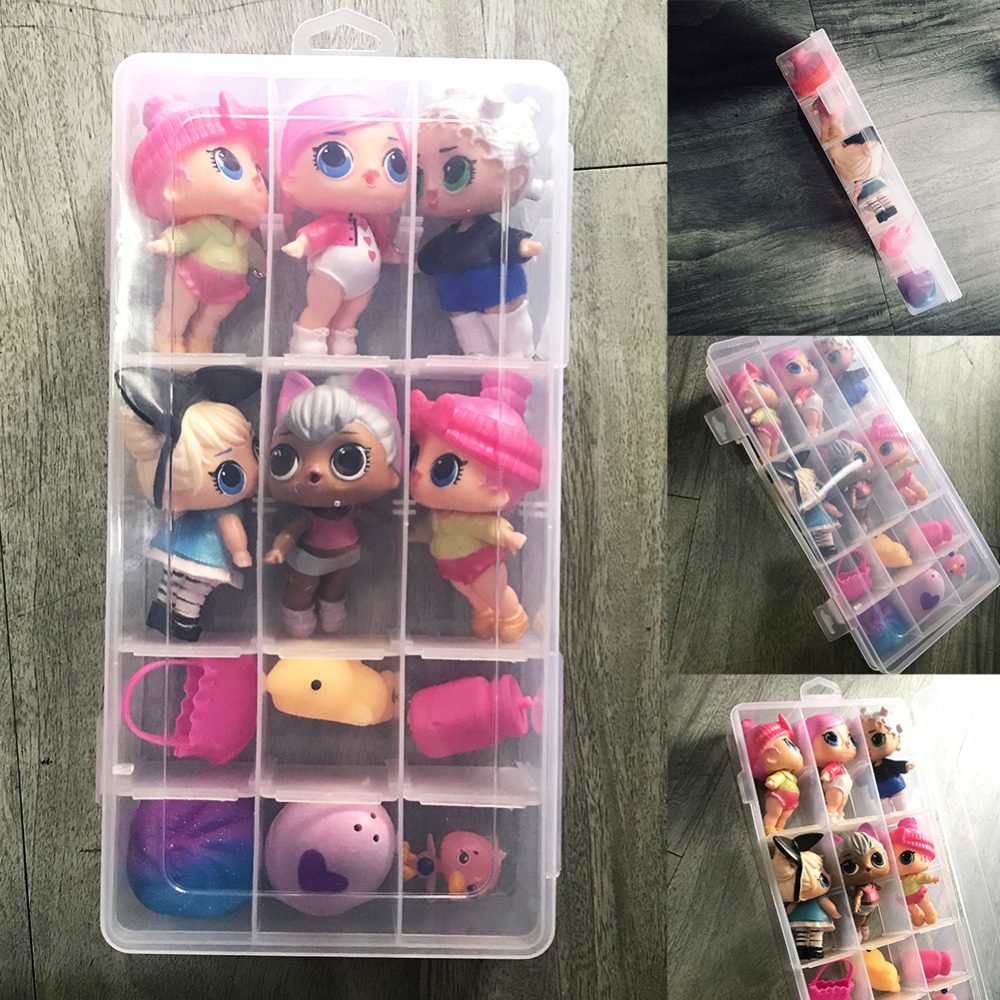 Random Mini Dolls Surprised Dolls Cutest Little Adorable Baby Toys Case For Kids Gift To ...