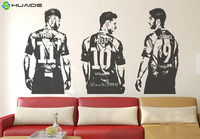 3d Poster Soccer Star Luis Suarez Lionel Messi Wall Sticker Home Decor Living Room Boys Bedroom
