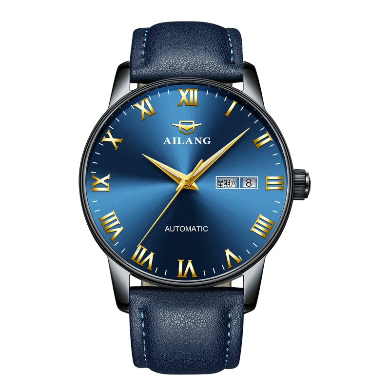 Swiss Certified Genuine Elang Machinery Watch Fully Automatic Waterproof Tritium Brand Noctilucent Leather Fashion Men's Watch
