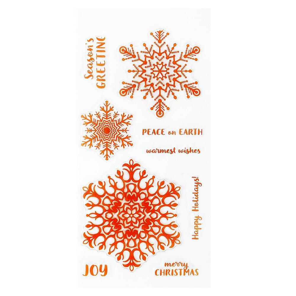 DECORA 1PCS Silicone Transparent Clear Stamp DIY Scrapbooking Christmas Decoration Supplies