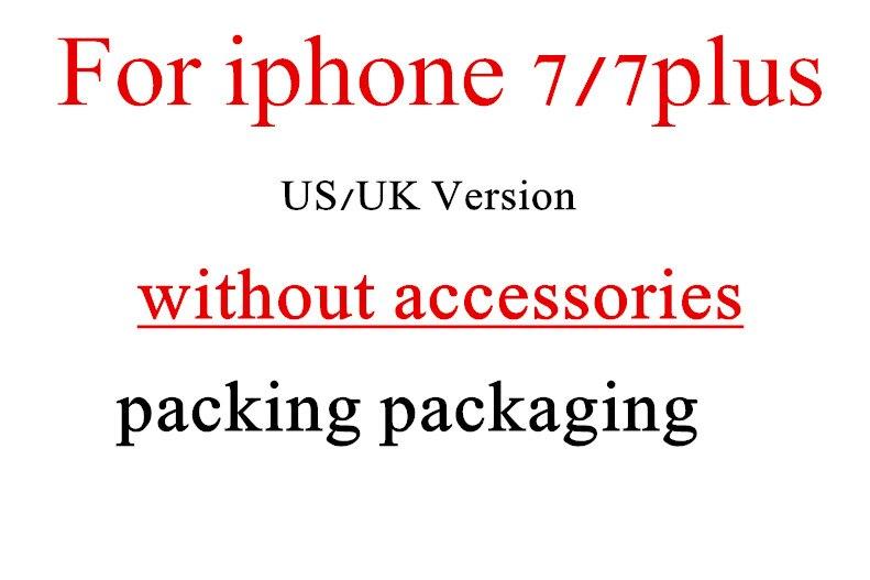 Цена за 5 шт. Высокое качество США/ЕС/Великобритания Версия телефон пустая коробка упаковка сумка для iPhone 7 4.7 дюйма для iPhone7 плюс коробка без аксессуаров