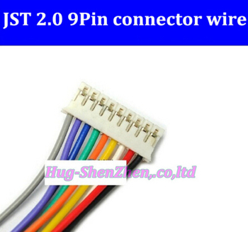 50pcs/lot NEW 9P JST 2.0mm PH2.0 PH 2.0 9pin PH-9p connector with cable 500mm wire 24AWG