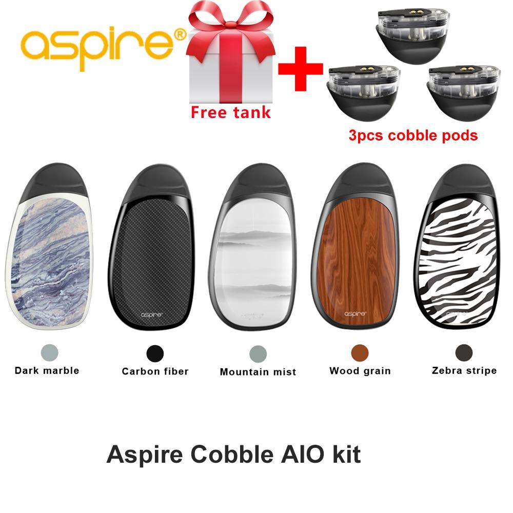Cadeau gratuit Original Aspire cobble kit avec 3 dosettes aspire aio vape système kit avec 700 mAh batterie 1.8 ml capacité cartouche