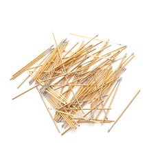 Tip Spring Test Probe Outer Diameter 0.68mm Length 27.8mm For Testing Circuit Board Instrument Tool PL50-E 100Pcs / Bag