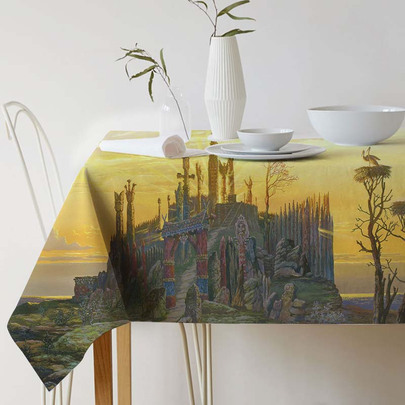Tablecloth for table Vsevolod Ivanov Painting Art Linen Decorative table cloth Dining Table Cover For Kitchen Home Decor
