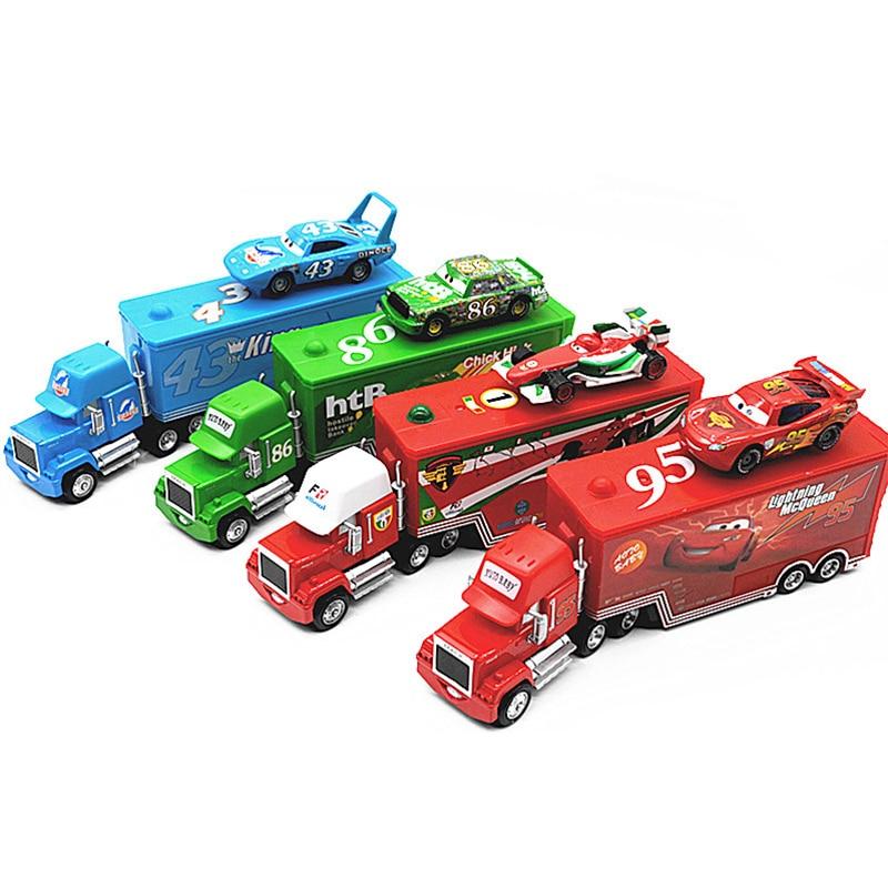 Disney Cars 2Pcs Lightning McQueen Uncle Jim Diecast Metal Alloy Modle Pixar Toys Car 1:55 Gift For Baby Boys Girls Kids Toys