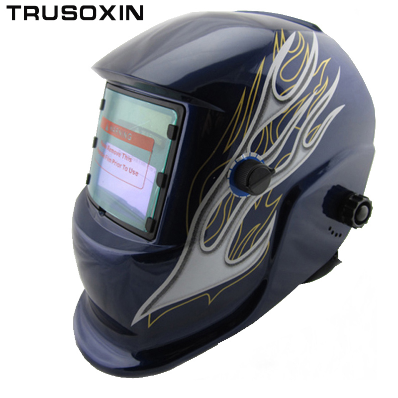 Nice fire paint  Li battery+Solar auto darkening welding mask/weld helmet sent to you free shipping free shiping xhzlc60 fire escape smoking chemical protection mask