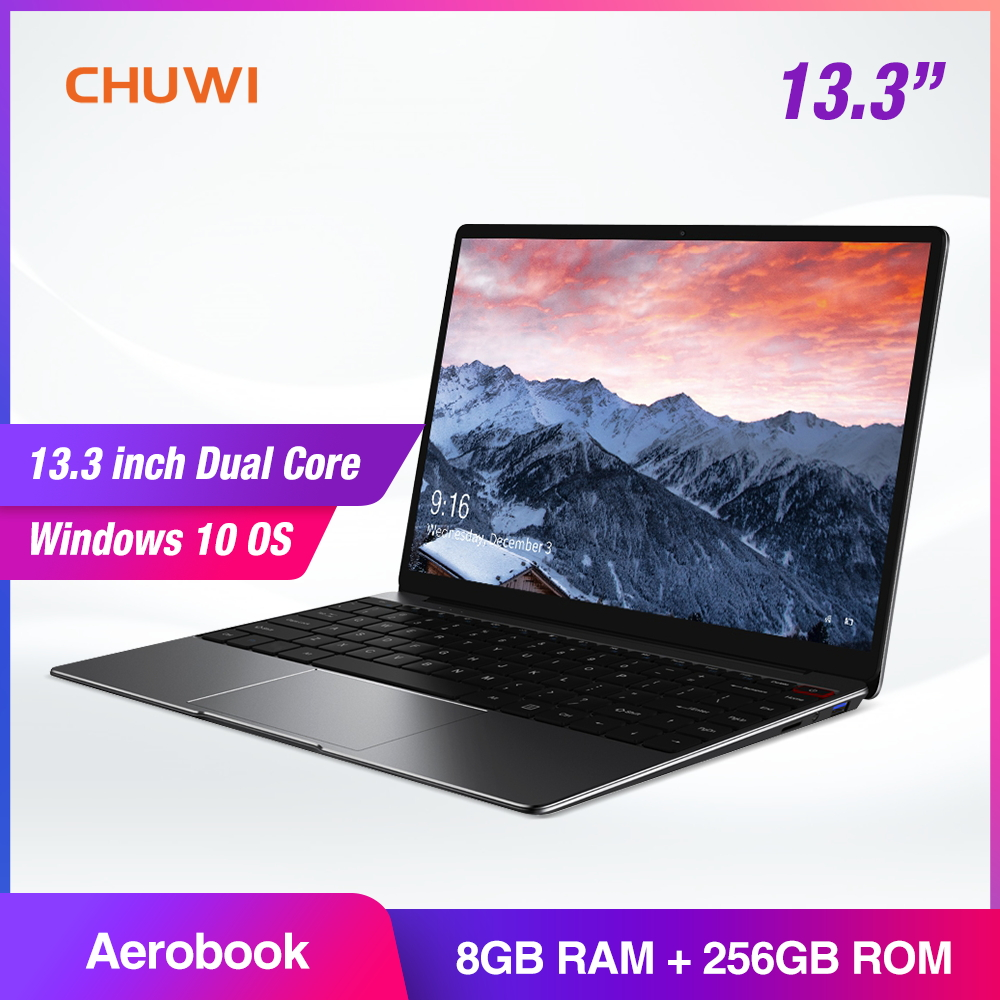 CHUWI AeroBook 13.3 Inch IPS Notebook Intel Core M3 6Y30 Windows 10 8GB RAM 256GB SSD Laptop with Backlit Keyboard