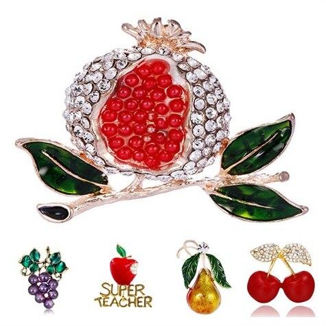 Brooch Boutique Grappe de cerises Broche Paire de cerises Fruits