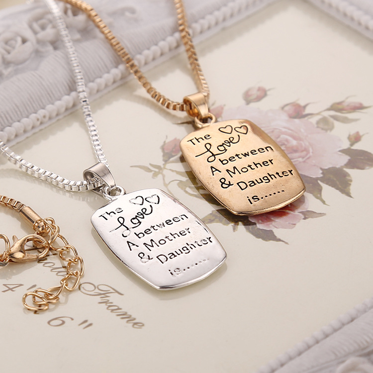 2015 the love between a mother daughter is pendant silver gold 2015 the love between a mother daughter is pendant silver gold necklace mothers day birthday gift in pendant necklaces from jewelry accessories on aloadofball Choice Image