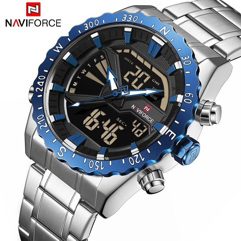 NAVIFORCE Mens Watches Brand Luxury Fashion Casual Sport Watch Digital Quartz Men Clock Military Wristwatch Relogio Masculino цена и фото