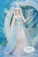 new 1/4 BJD Doll 50cm(19'') 18 jointed dolls Cute girl Toy ice princess ( make up + Hair + Clothes + Shoes ) gift for children