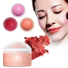 1 PC blush ball blush pink orange red Natural Face Blush Powder Makeup Blusher beauty face make up A2